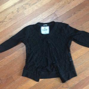 Little black Lacey cardigan